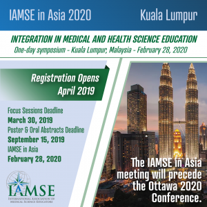 IAMSE2020A Kuala Lumpur - Call for Posters and Orals - Due